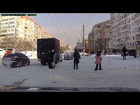 Odessa in Snow by car driver (first spring day 2018)