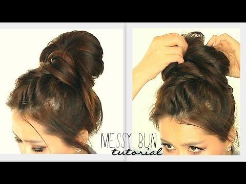 ★-big-messy-bun-braid-tutorial-|-cute-school-hairstyles-for-medium-long-hair-|-updos-prom