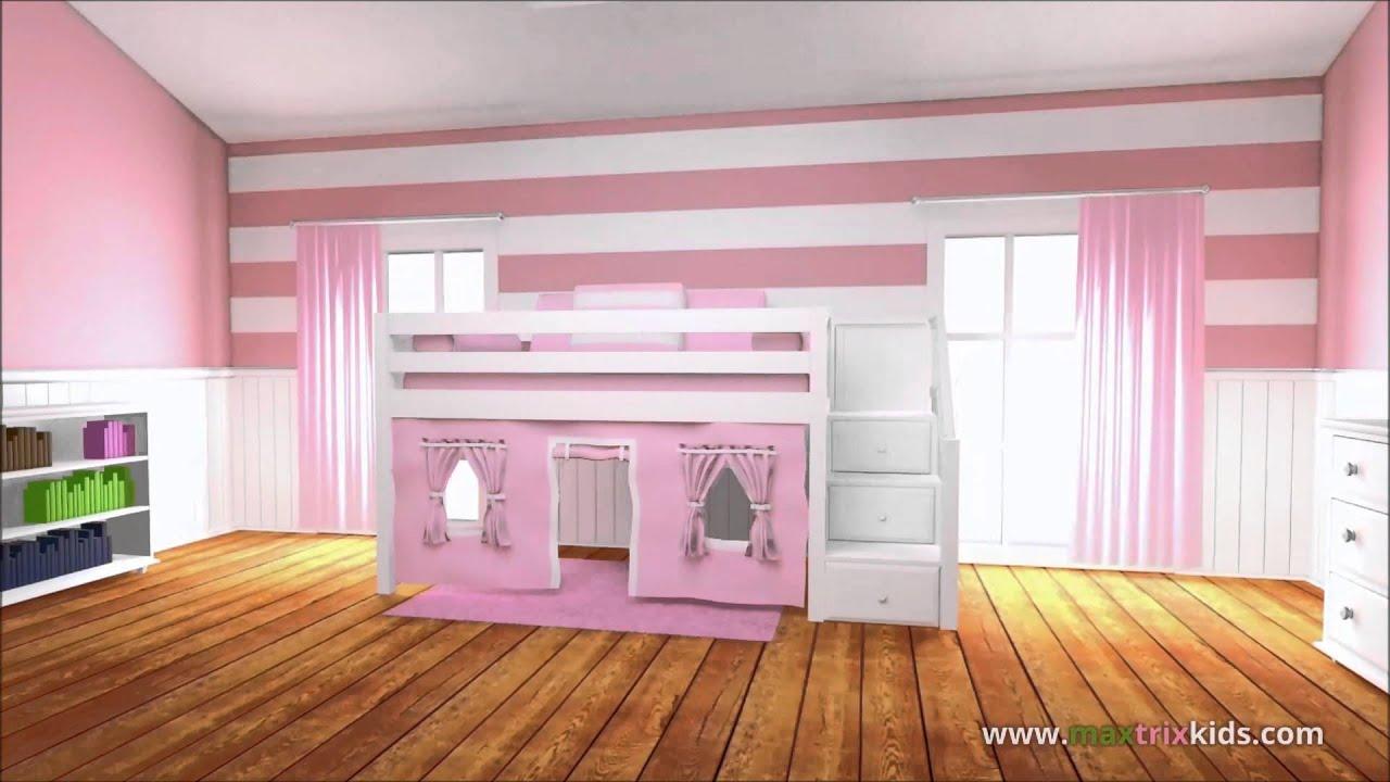 Maxtrix Girls Bedroom Furniture - The Bedroom Source - YouTube