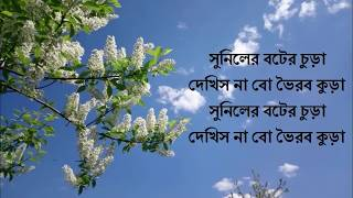 Pindare Palasher bon lyric | Bangla Song | Lyric Music