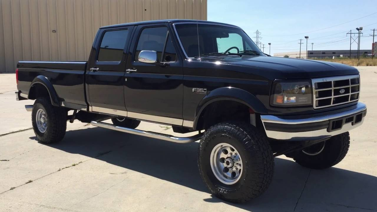 Com lifted 1996 ford f350 crew xlt 4x4 7 3 powerstroke turbo diesel for sale youtube