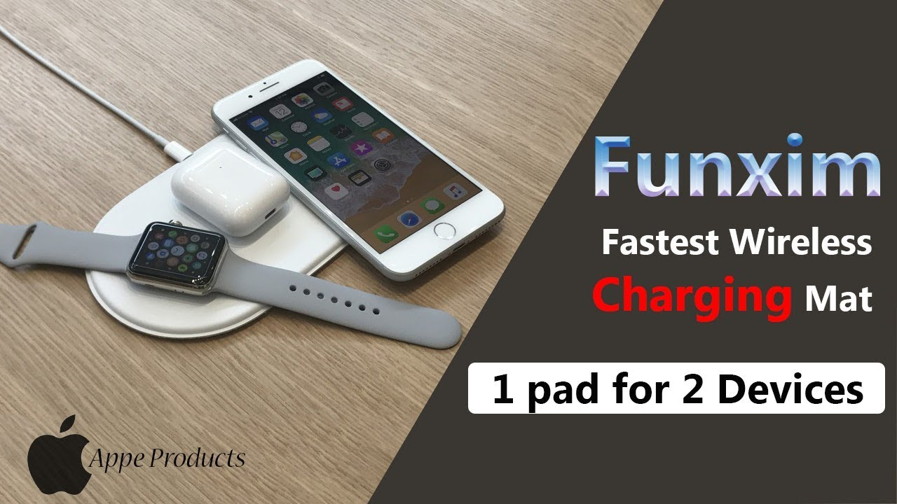 outlet store 22cf8 bc909 Funxim Efficient Fast Wireless Charging Pad for Apple iPhone X, iPhone 8,  iPhone 8 Plus-Apple Watch