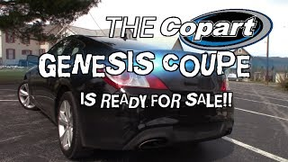 The Copart Hyundai Genesis Coupe 2.0T is Finished