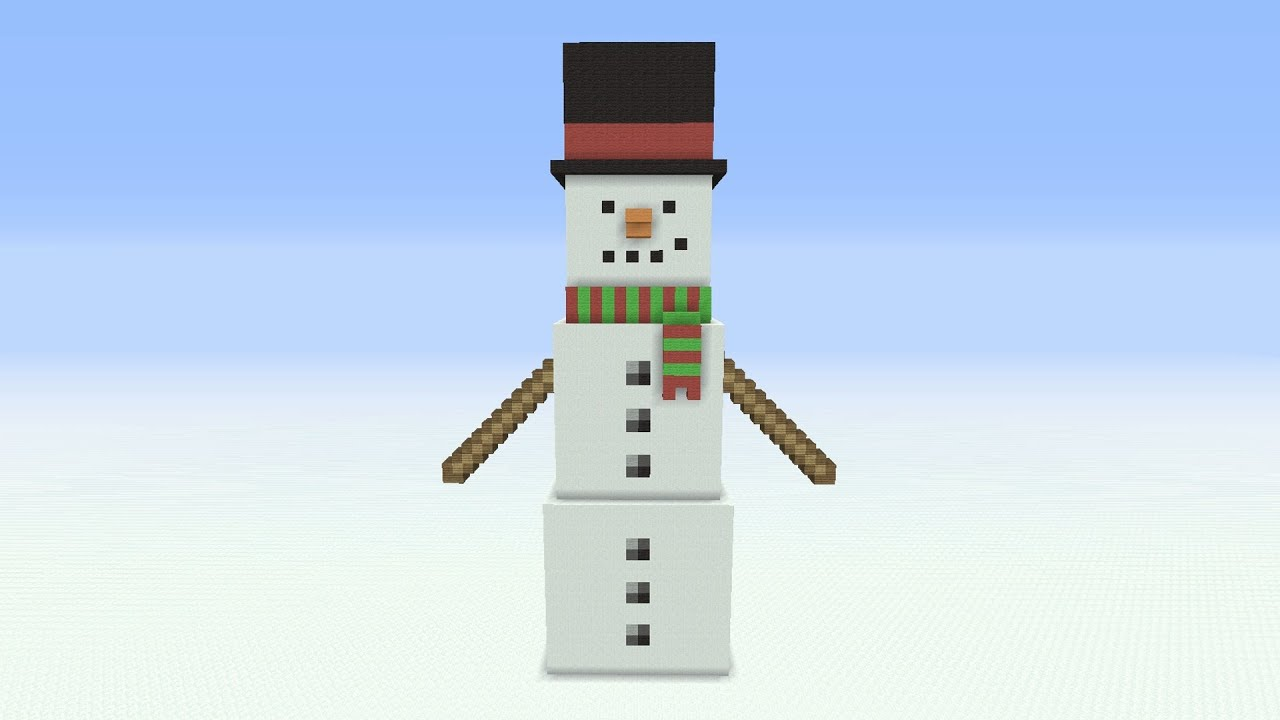 Minecraft Tutorial How To Make A Snowman Statue Youtube