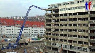 **HIGH-REACH DEMOLITION** Hitachi Zaxis 870 XXL  / Abbruch Olgäle Stuttgart, 18.02.2016.