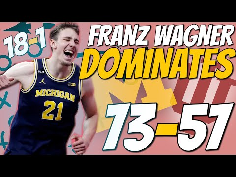 Wagner SHUTS DOWN the Hoosiers || Michigan Basketball Highlights vs. Indiana || 02/27/21
