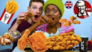 KFC MUKBANG! Original Recipe Chicken, Burrito, Wings, Popcorn Chicken