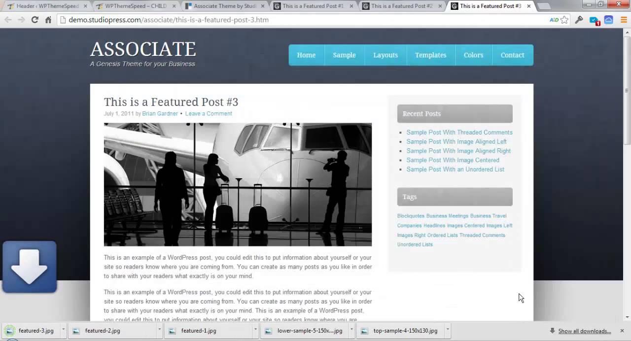 How to Setup Associate Theme StudioPress video tutorial ...