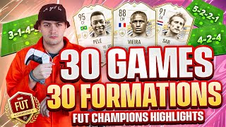 I played FUT CHAMPS using ALL 30 FORMATIONS on FIFA 21!!
