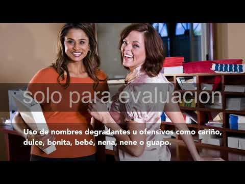 Spanish Sexual Harassment Prevention Video