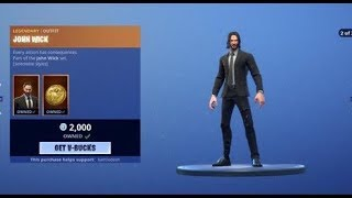John Wick IS HERE!! FORTNITE ITEM SHOP MAY 16TH - New Skins, Emotes and MORE!!!