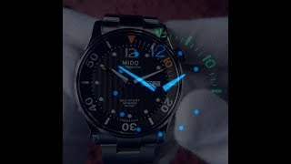 Mido Multifort Two Crowns Diver M005.930.11.060.80 Night Video (Lume) (4K Ultra HD)