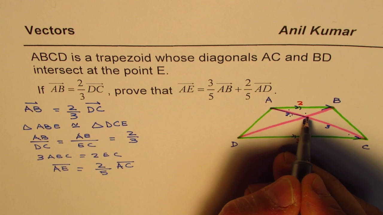 Prove the linear combination in trapezoid for diagonal for 2 to 3 prove the linear combination in trapezoid for diagonal for 2 to 3 ratio ccuart Choice Image