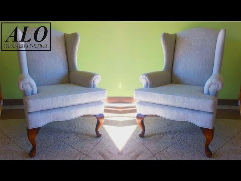 DIY - HOW TO REUPHOLSTER A WING BACK CHAIR - ALO Upholstery