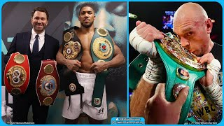 WE ARE WAITING FOR TYSON FURY TO SIGN BEFORE ANTHONY JOSHUA SIGNS~EDDIE HEARN.