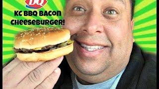 Dairy Queen® KC BBQ Bacon Cheeseburger REVIEW!