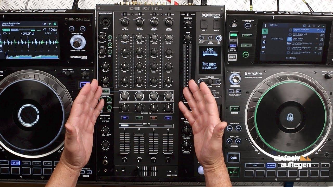Test Denon DJ X1800 Prime - YouTube