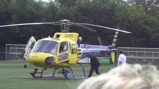 Andrea Berg Hubschrauberflug zur Autogrammstunde , Aspach 24.07.16