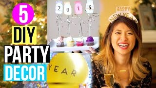DIY Party Decor + Huge Giveaway for New Year's 2016!