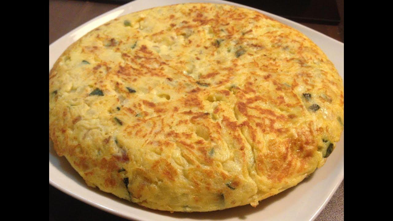 Tortilla de patata calabac n y cebolla roja youtube - Tortilla de calabacin y cebolla ...