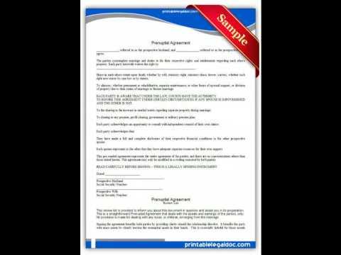 Resource image inside free printable prenuptial agreement form