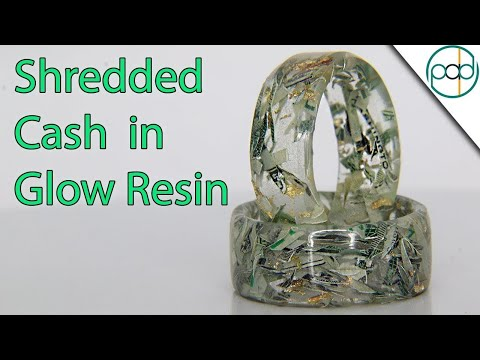 Casting Cash, Gold, and Glow Powder in a Resin Ring