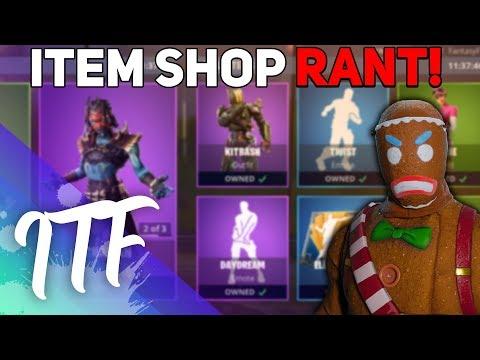 The Item Shop RANT (Fortnite Battle Royale)