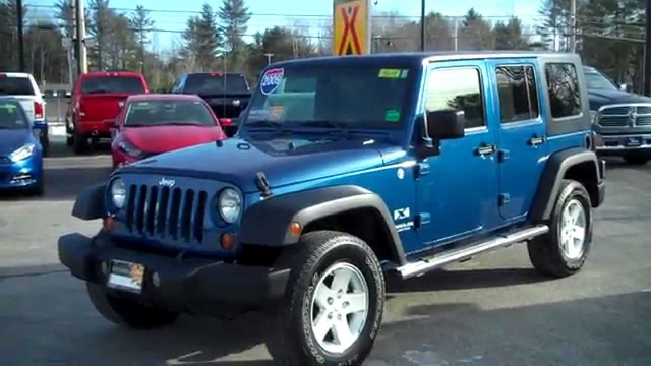 2009 jeep wrangler unlimited ltd x used southern maine motors saco maine bangor portland boston youtube
