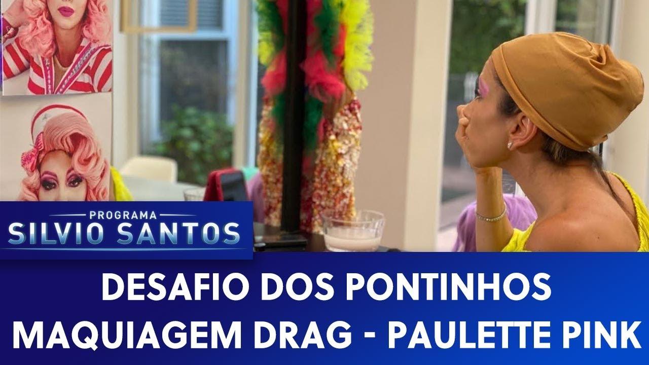 Desafio dos Pontinhos: Maquiagem - Drag Paulette Pink | Programa Silvio Santos (23/09/20)