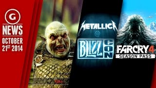 Free Shadow of Mordor DLC, Yetis in Far Cry 4, and Metallica to play Blizzcon! - GS Daily News