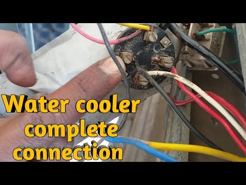 Connection of water cooler