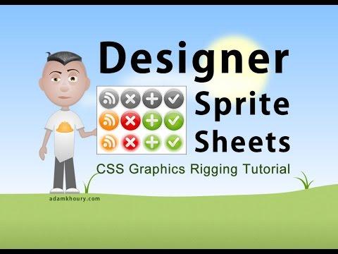 Web Design Sprite Sheet CSS Preload Graphics Tutorial