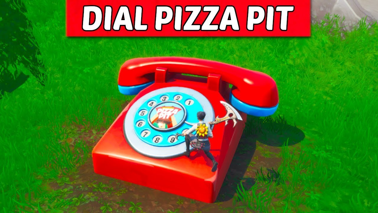 fortnite dial pizza pit number telephone location guide season 8 challenge - fortnite season 8 telephone location