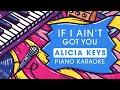 Alicia Keys - If I ain't got you - Piano Karaoke