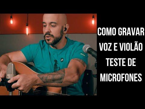 Como Gravar voz e #violão - Microfones #Condensador, #Dinâmico e Linha