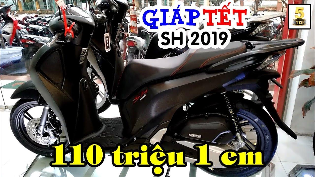 Giá xe Honda SH 125 & 150 2019 dịp GIÁP TẾT ▶️ SH 150 ABS màu đen nhám mới 🔴 TOP 5 ĐAM MÊ