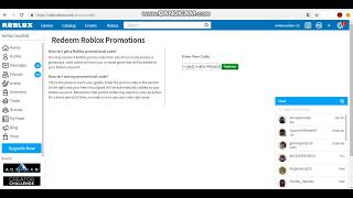 ROBLOX PROMOCODE (GIVES A HAT)