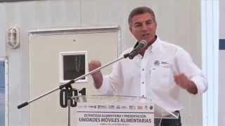 Presentación de las Unidades Móviles Alimentarias y entrega de despensas.