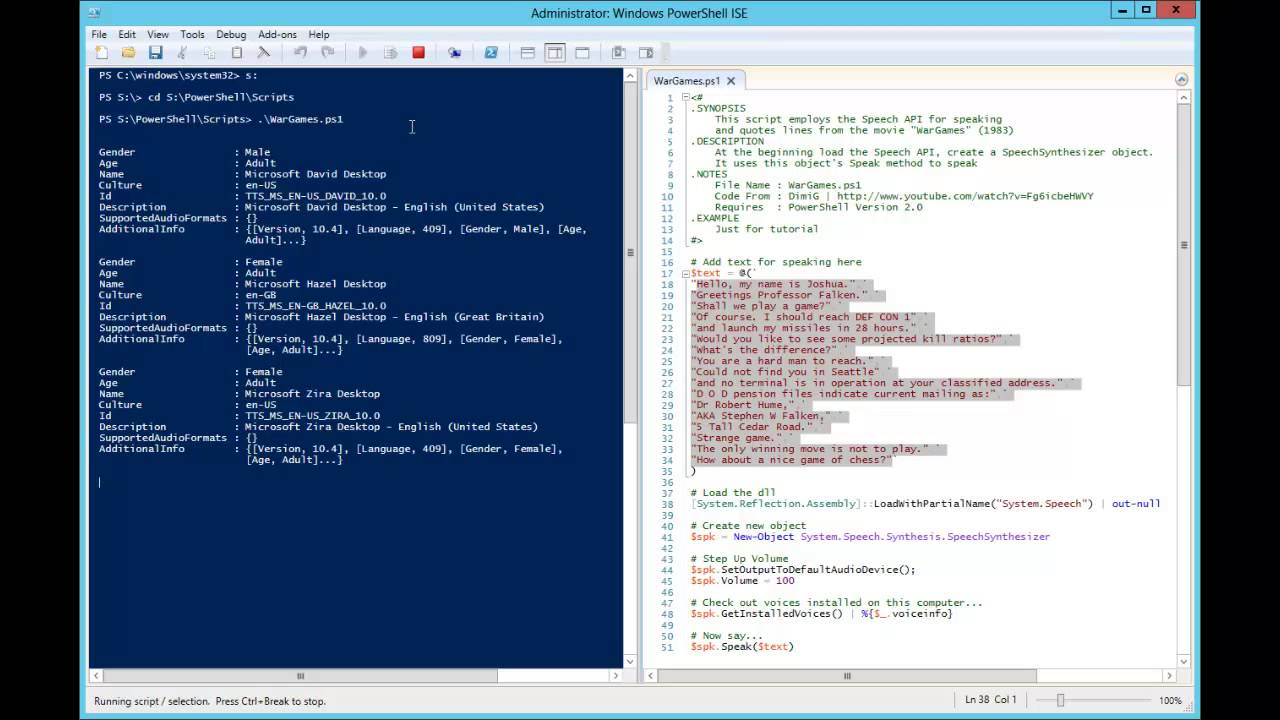 Stupid PowerShell Tricks – Getting Your PC to Talk