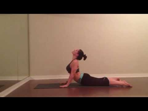 yoga  backbend flow  cobra pose bhujangasana  bow pose