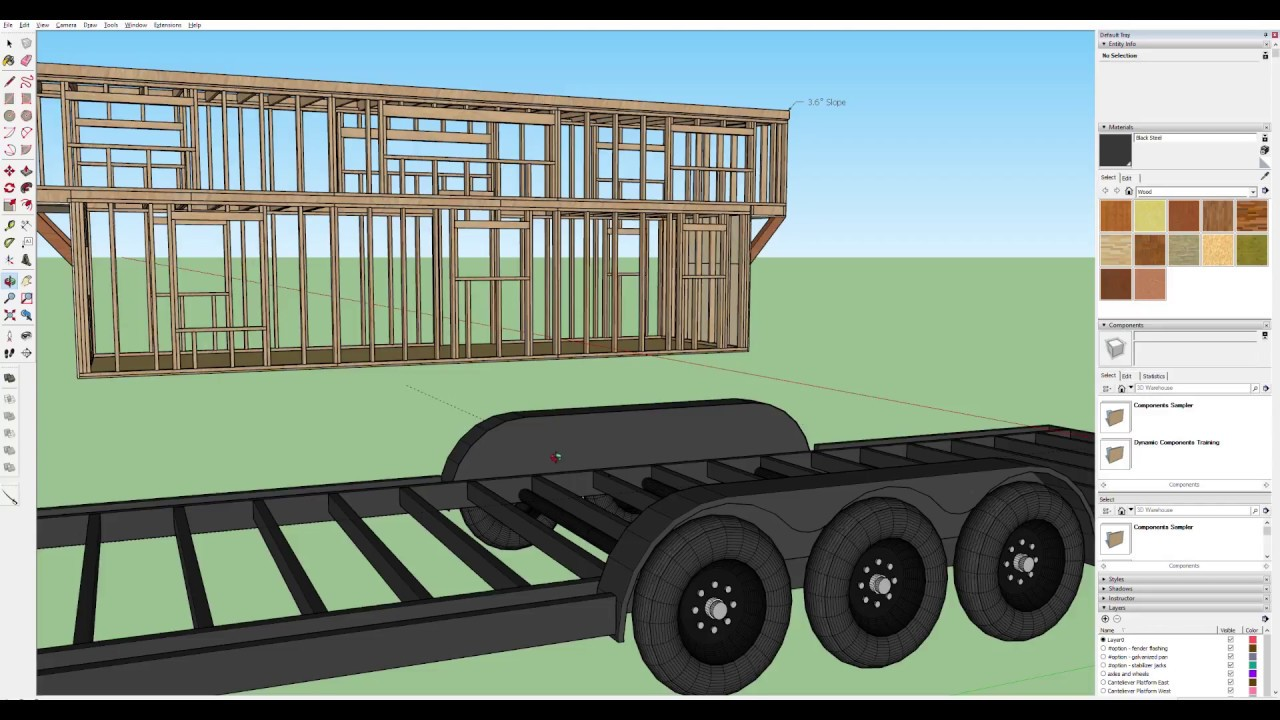 The Trailer | Part 2 of Designing a Tiny House in Sketchup ...