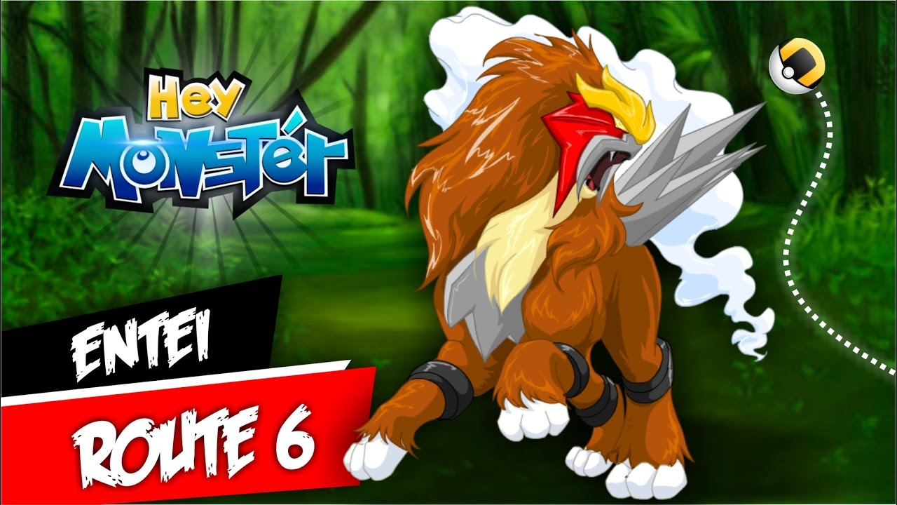 Hey Monster Entei Route 6 Tutorial 1HP Paralysed - YouTube
