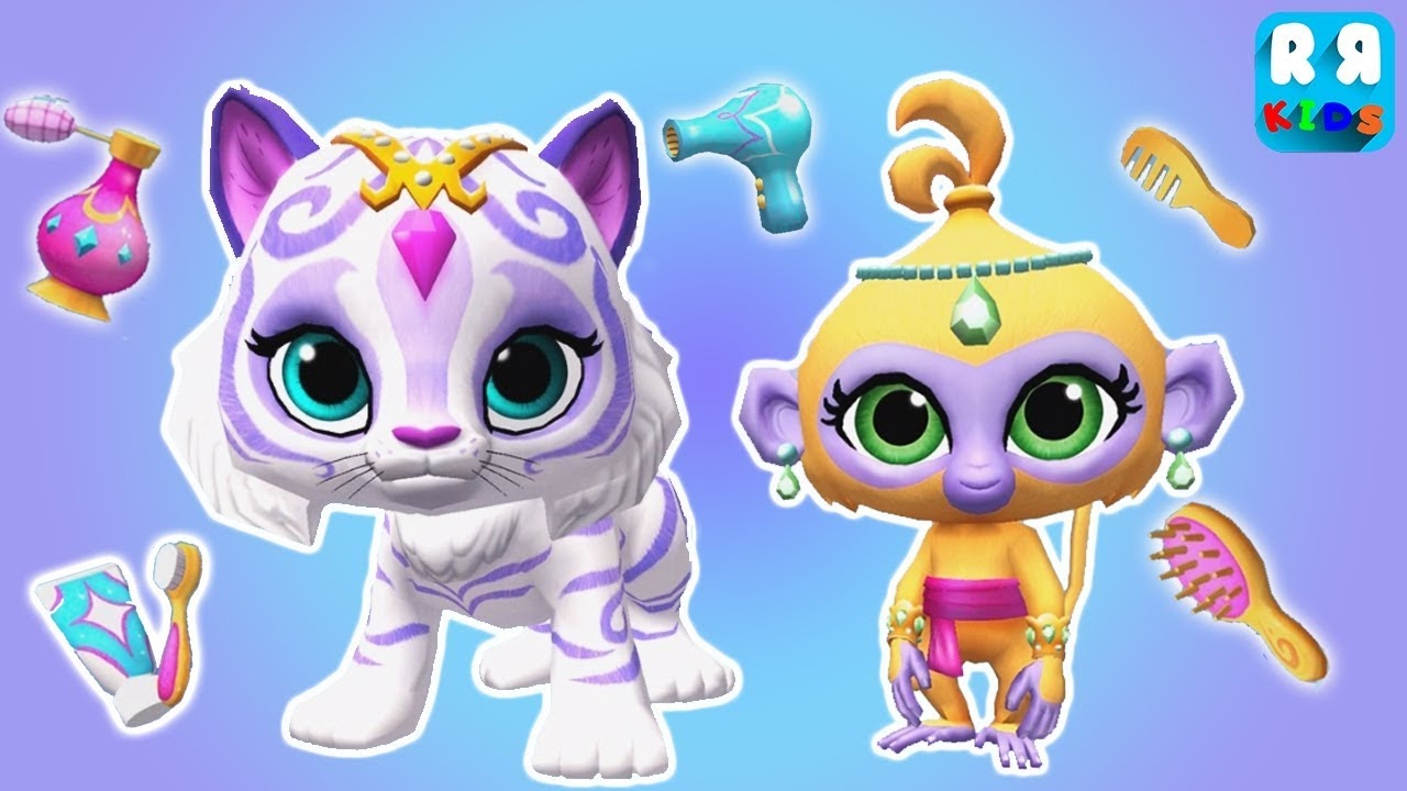 play fun and make up your pets with tala and nahal shimmer and shine