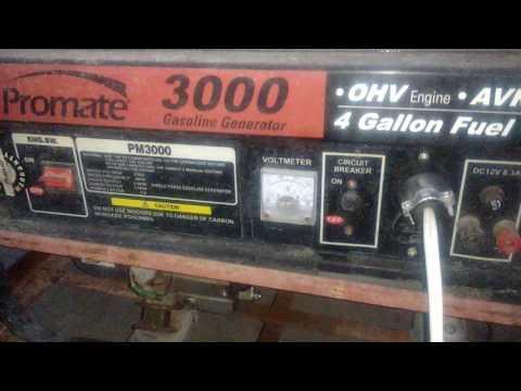 Testing my promote generator 3000 watts