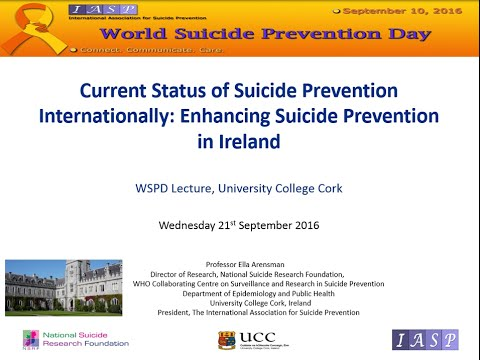 Current Status of Suicide Prevention Internationally: Enhancing Suicide Prevention in Ireland