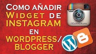 Como añadir Widgets de Instagram a tu Web/Blog - DanyGraph
