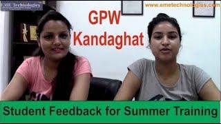 GPW Kandaghat Student Feedback Chahat and Shreya