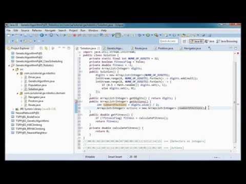 Genetic Algorithms Tutorial 05 - Robotics JAVA Application