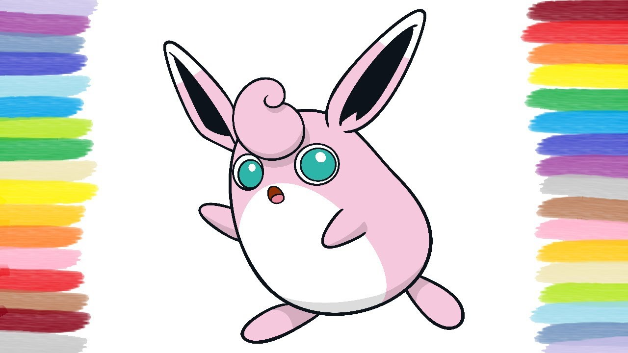 Coloring Wigglytuff Pokemon Colouring Book And Pages For Kids