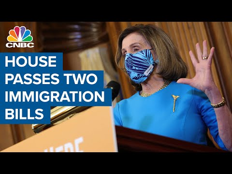 The House passes two immigration bills that would establish a path to citizenship for millions